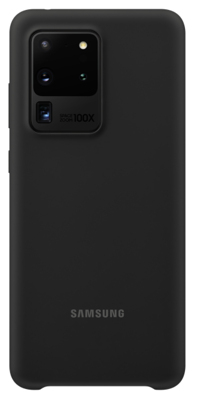 Mynd af Samsung S20 Ultra Sílíkon Hulstur Svart G988